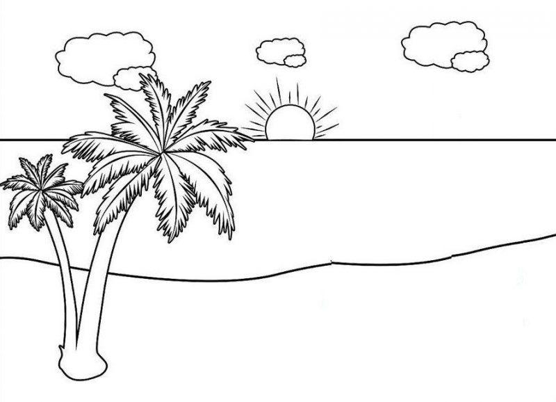 Cara Menggambar Pemandangan Gunung Dan Pantai Dan Cara Mewarnai