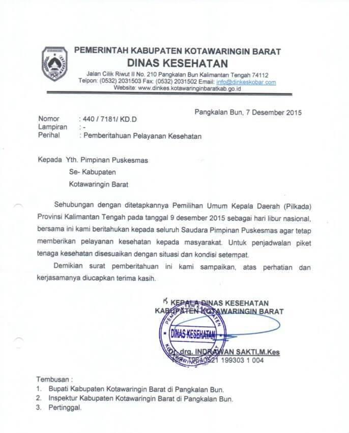 Contoh Surat Dinas Petugas