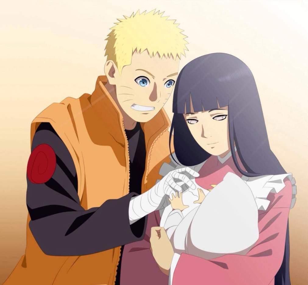 Gambar Naruto Bersama Istri dan Anak