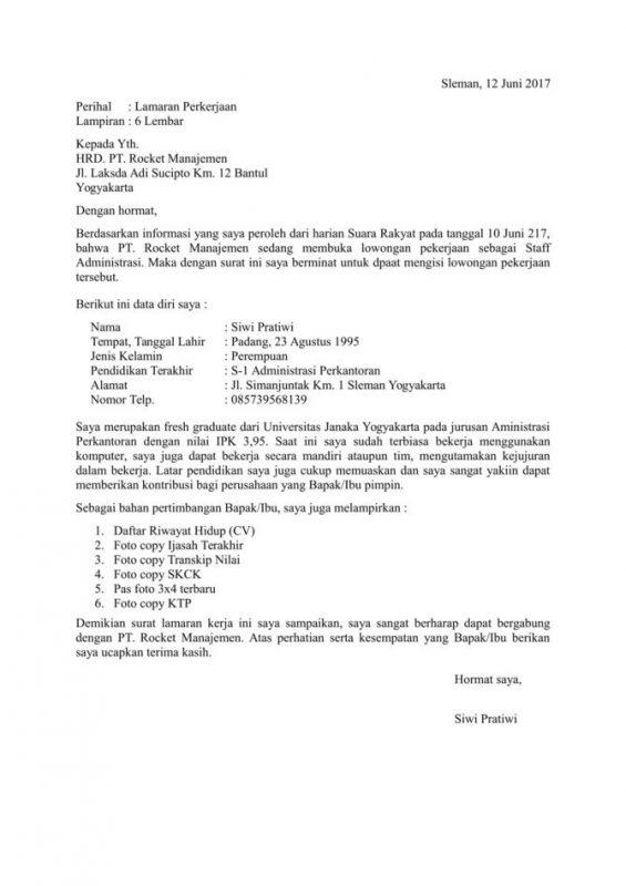 Contoh Surat Izin Kerja Di Pabrik Contoh Surat Izin Lamar Kerja Benar