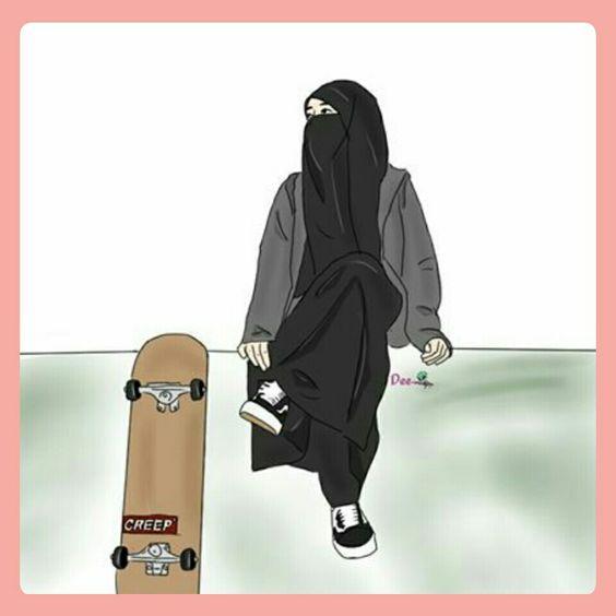 Gambar Kartun Islami Bercadar HD
