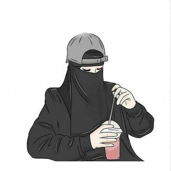 Gambar Kartun Islami Bercadar