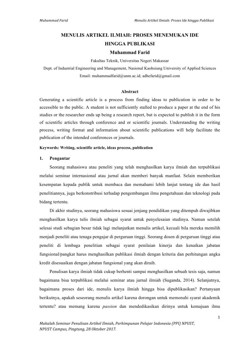 Contoh Artikel Ilmiah PDF