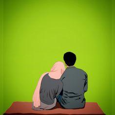 Gambar Kartun Islami Kata-Kata