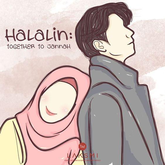 Gambar Kartun Islami Muslimah Bercadar Romantis Lucu Terbaru Lengkap